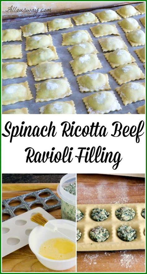 spinach ricotta beef ravioli filling home