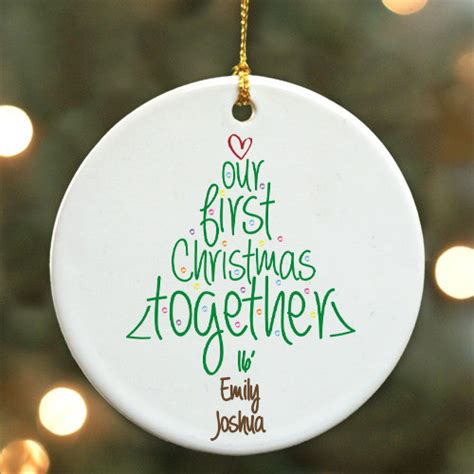 personalized first christmas together ornament newlywed tree