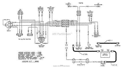 dixon ztr   parts diagram  wiring assembly