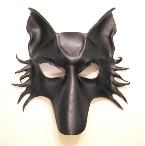 leather puppy mask black wolf fox leather mask by teonova on deviantart