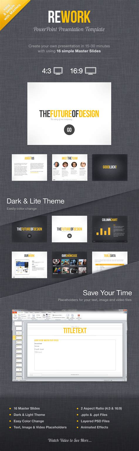 Rework Template by Rework Powerpoint Presentation Template By Mird Graphicriver
