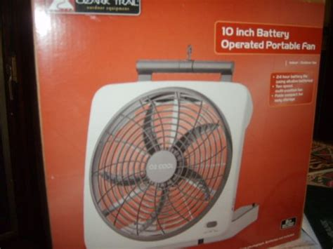 ozark trail 10 battery operated adjustable portable fan buy ozark trail o2 cool 10 inch battery operated portable