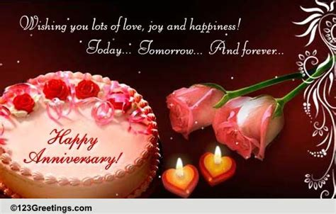 anniversary to a cards free anniversary to a wishes 123 greetings