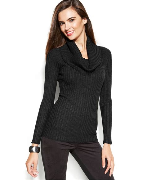 Cowl Neck Sweater cowl neck ribbed sweater coat nj
