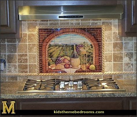wall tile murals decorating theme bedrooms maries manor tuscany vineyard