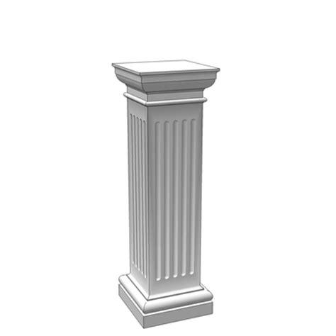 Square Pedestal Square Pedestals 3d Model Formfonts 3d Models Textures