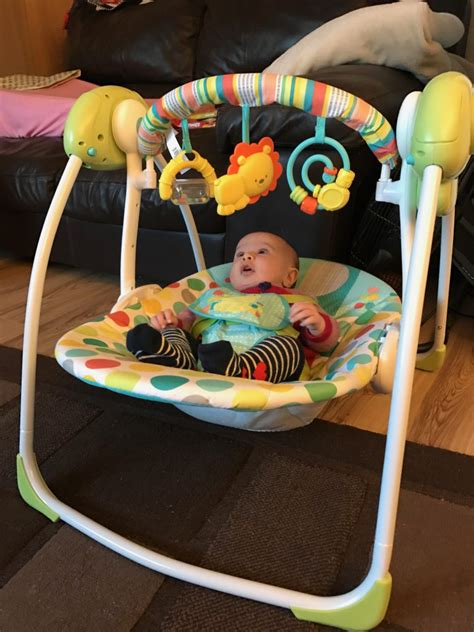 reviews on baby swings chad valley baby swing review in the playroom