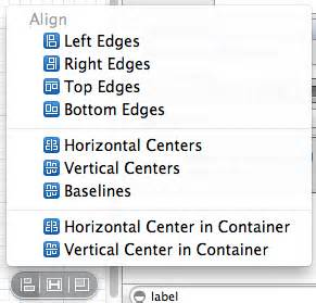 auto layout align menu autolayout in interface builder