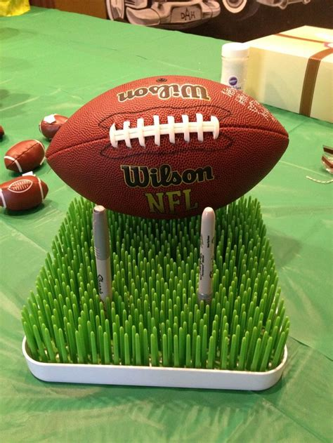Football Themed Baby Shower football baby shower football guest book that each guest