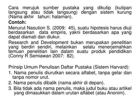 penulisan daftar pustaka jurnal sistem harvard ppt kaidah selingkung penulisan artikel jurnal
