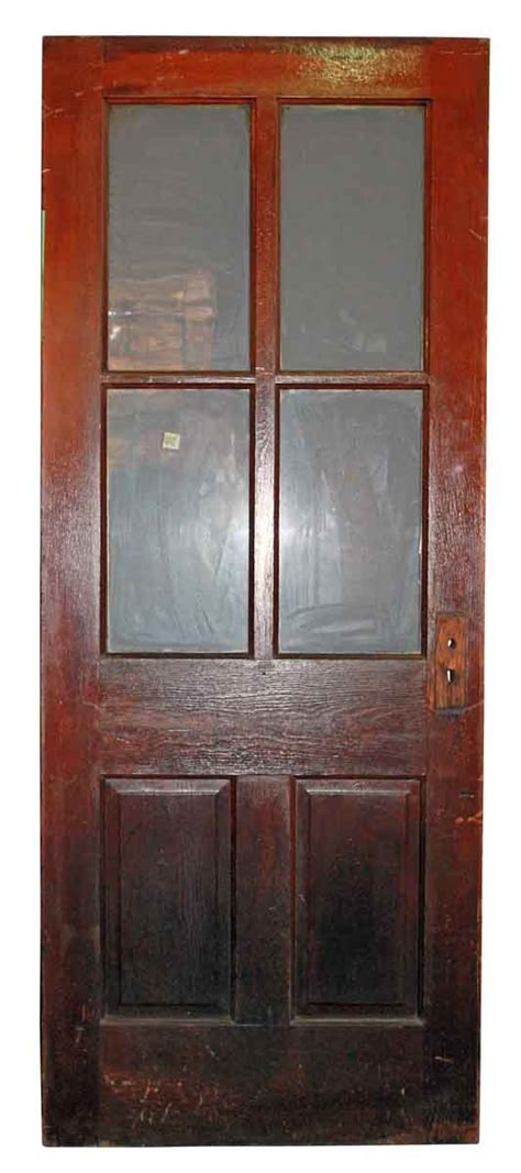 6 Panel Door With Glass by Six Verticle Panel Door With Glass Olde Things