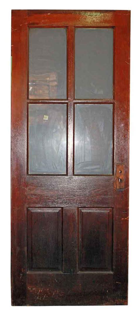 6 Panel Door With Glass Six Verticle Panel Door With Glass Olde Things