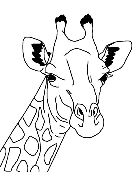 Giraffe Coloring Page Printable by Giraffes Free Coloring Pages