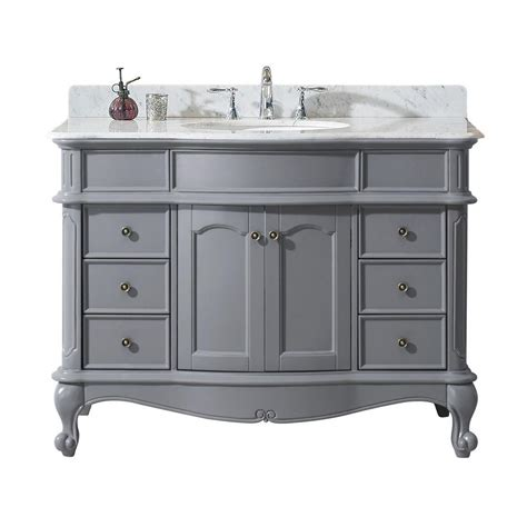 virtu usa norhaven 48 in w x 23 6 in d vanity in grey