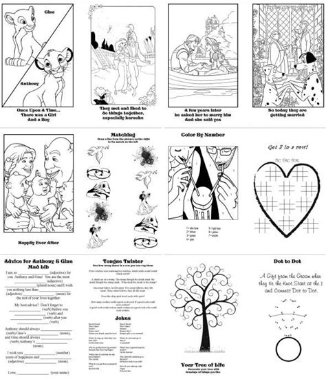 diy coloring book diy activity books for pic heavy wedding activity