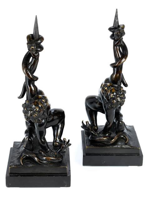 kerzenhalter bronze paar kerzenhalter in bronze hel auctions