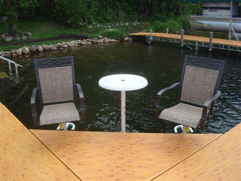 boat dock chairs dock furniture lake house pinterest boat dock
