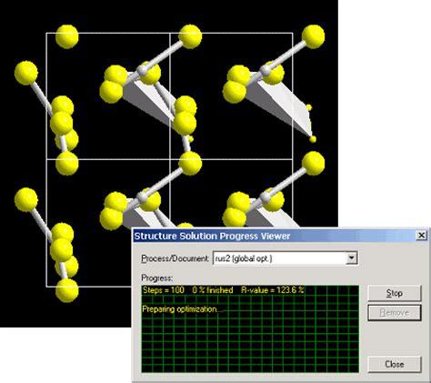 空間群が分かっていれば、空間群 endeavour 粉末回折から結晶構造を解析するソフト