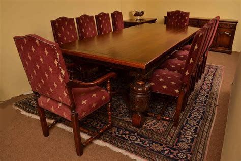 Dining Table And Chairs Harrods Harrods Oak Dining Room Suite Refectory Table 10 Chairs