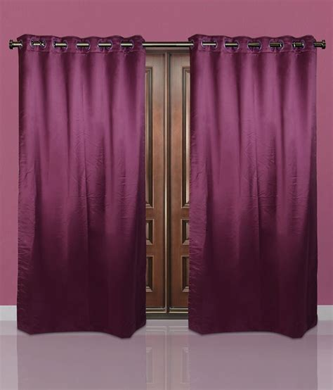 just curtains just linen purple polyester door curtain buy just linen
