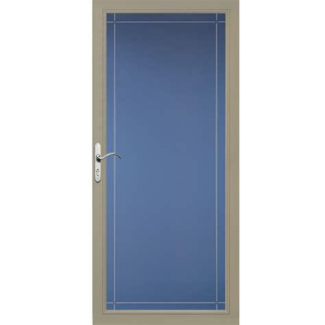Pella Doors Lowes by Shop Pella Select Putty View Aluminum Standard