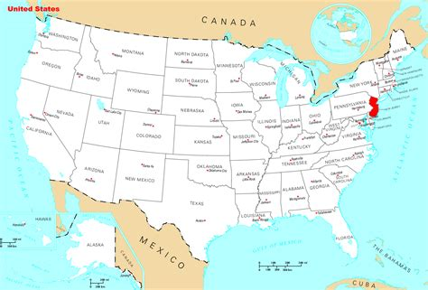 where is new jersey on the map where is new jersey located mapsof net