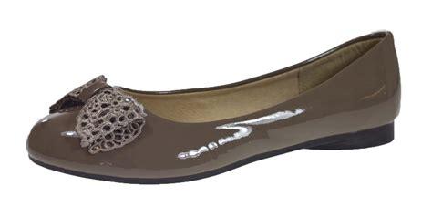 Patent Bow Flats womens faux patent leather ballet pumps flat ballerinas