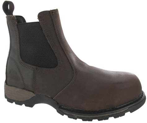 mens safety lightweight steel toe cap work slip on chelsea