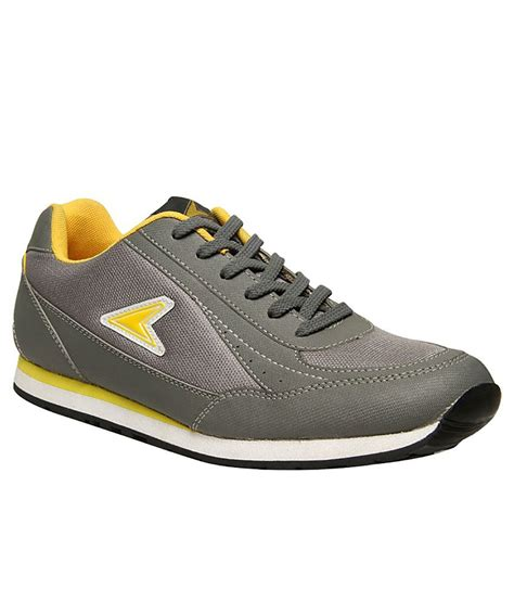 power grey sport shoes