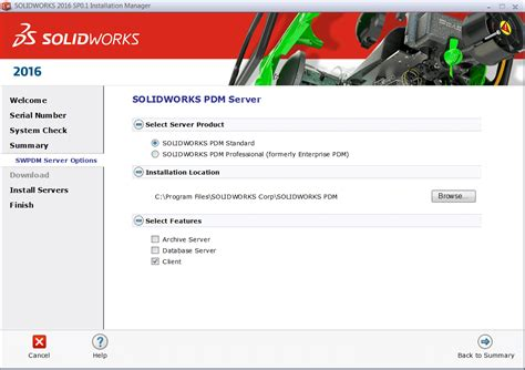 tutorial solidworks pdm solidworks pdm standard client installation