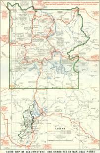1929 yellowstone and grand teton national parks map