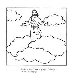sunday school coloring pages jesus ascension ascension of jesus coloring pages family