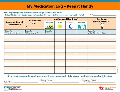 Medicine Picture Schedule My Medication Log Keep It Handy Slp Pinterest Medicine Family Practice Scheduling Templates