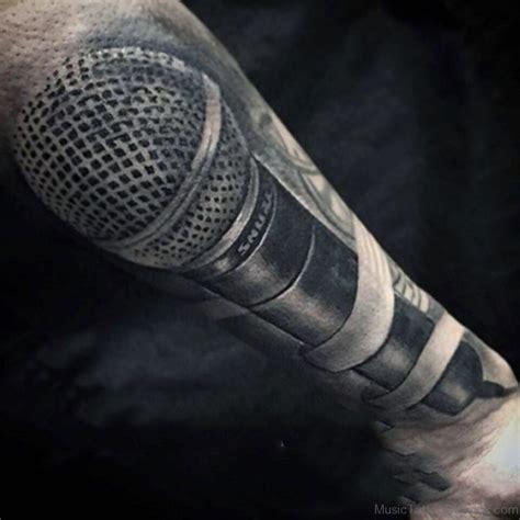 microphone tattoo 51 stunning tattoos for guys