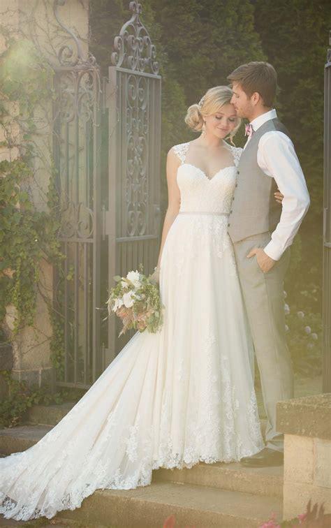 satin beach wedding gown essense  australia