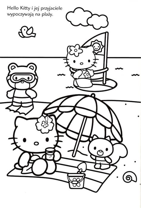 hello kitty beach coloring pages pinterest the world s catalog of ideas