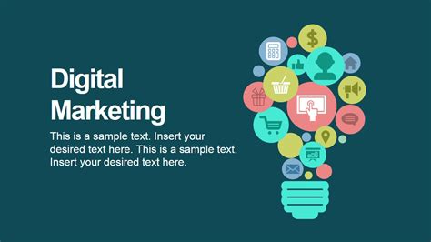 Templates Powerpoint Marketing | digital marketing powerpoint icons slidemodel