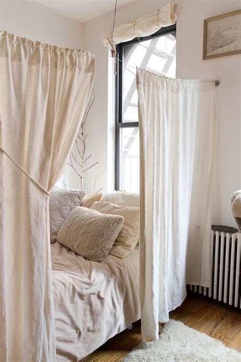 making simple curtains 25 ways to use curtains as space dividers digsdigs