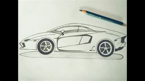 lamborghini sketch easy how to draw lamborghini car sketch tutorial in simple easy