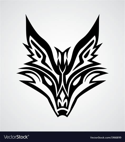 tribal fox face royalty free vector image vectorstock