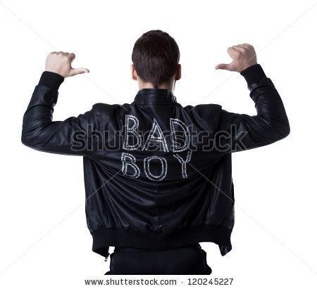 bad boy portait striptease man in black jacket stock photo