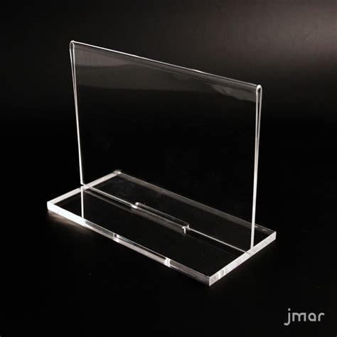 Display Acrylic A4 Horizontal horizontal vertical side acrylic display with removable base