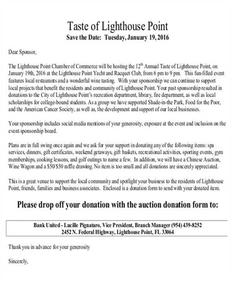 Letter To Local Business Asking For Donations donation letter exles