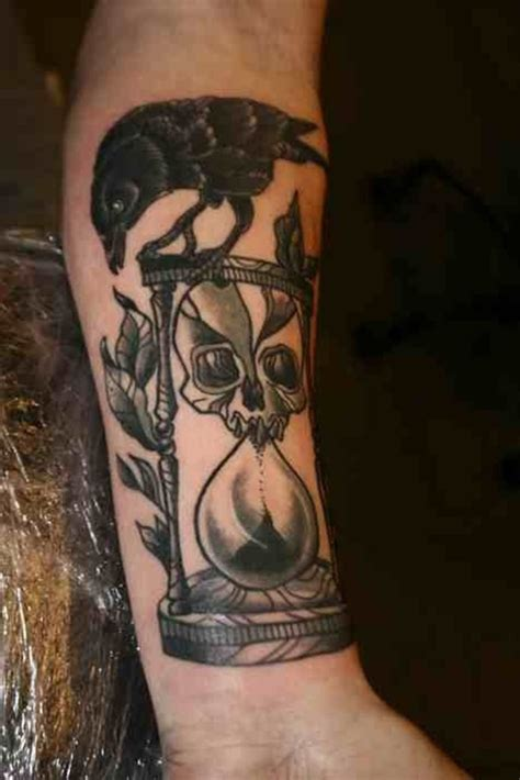hourglass skull tattoo designs masculine and hourglass design hourglass