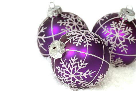 purple christmas ornaments car interior design