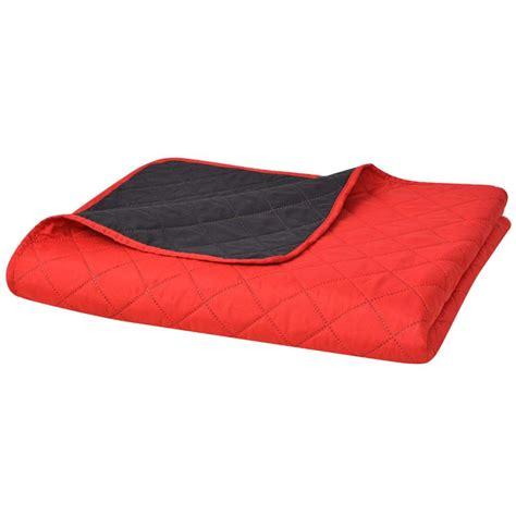 copriletto rosso vidaxl copriletto trapuntato doppia faccia rosso e nero