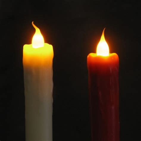 Dinner Candles 9 Quot Led Dinner Candles With Flickering Light Pack Of Two