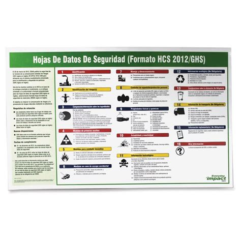 section in spanish impact safety data sheet spanish poster imp799073 the