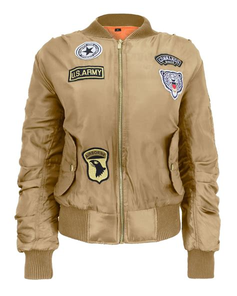 Bomber Pacht Army Ml us army comando patch ma 1 bomber biker jacket wintage classic coat ebay