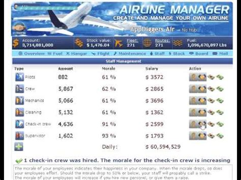 salary decrease in airline manager